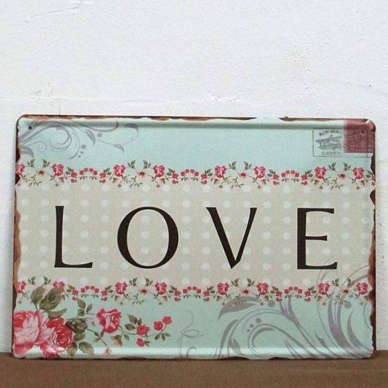 Emaljeskilt Love - NiceWall.dk