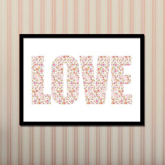 LOVE - Plakat - NiceWall.dk