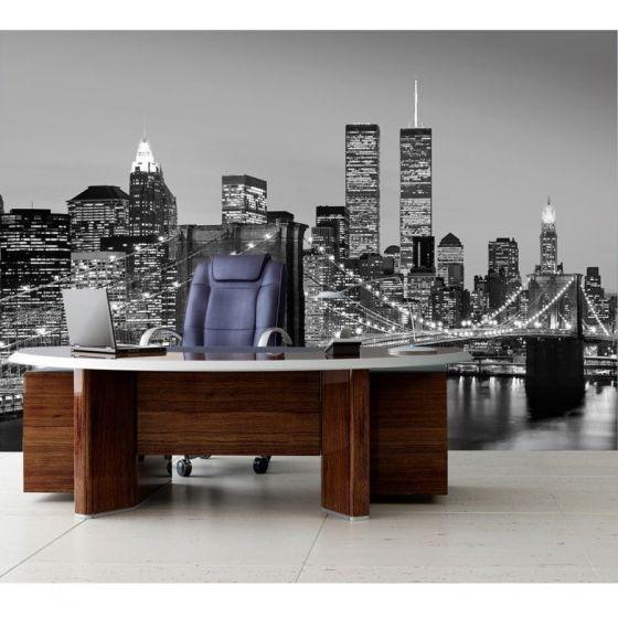 Manhattan sort og hvid - Foto tapet - Foto stat