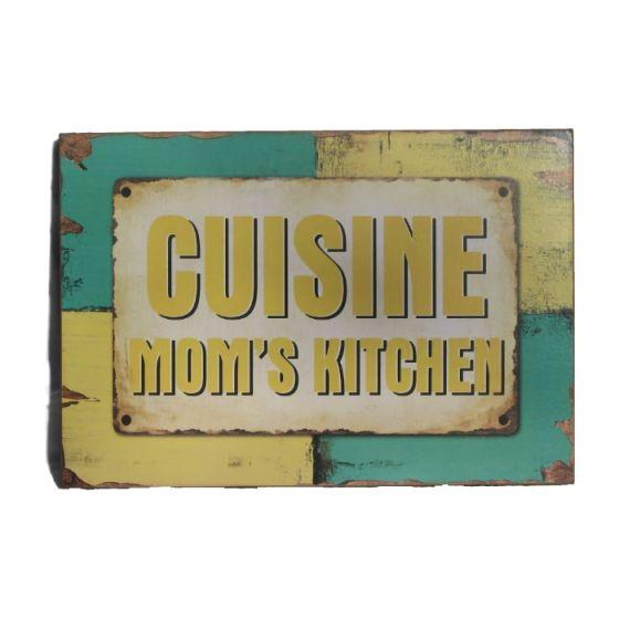 Cuisine - Mom's kitchen Træskilt - Flot skilt i træ - Skøn vægdekoration