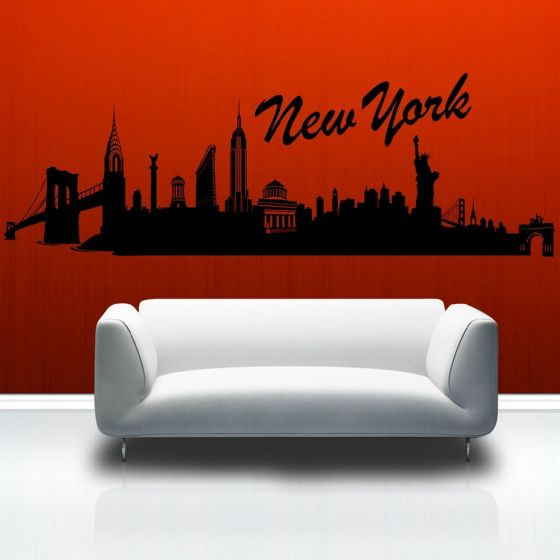 Wallsticker New York skyline - NiceWall.dk