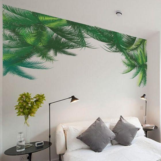 Palme wall sticker - Flot vægklistermærke palme blade - Selvklæbende vægdekoration