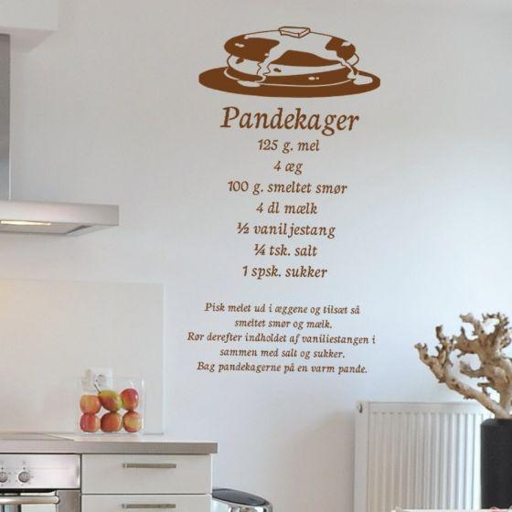 Wallsticker Pandekager opskrift - NiceWall.dk
