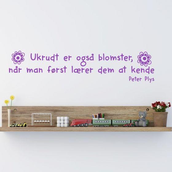 Wallsticker Ukrudt er også blomster... - NiceWall.dk