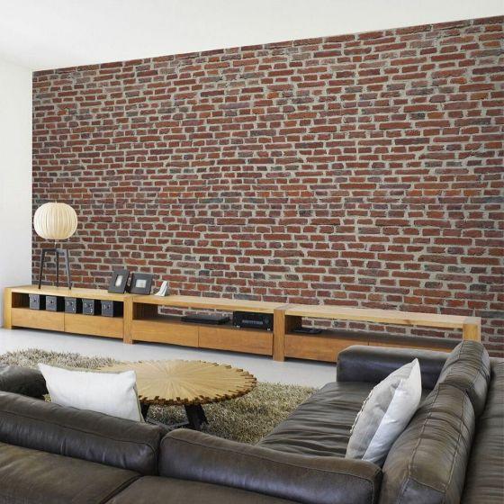 Røde mur sten - Foto tapet - Foto stat