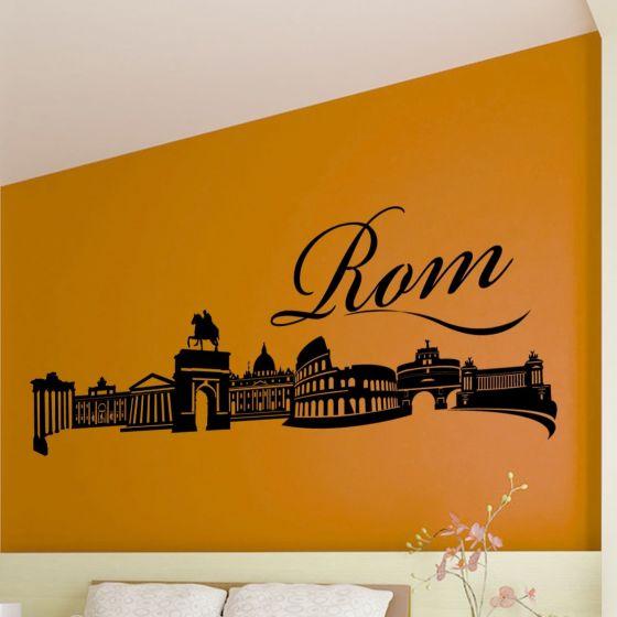 Wallsticker Rom skyline - NiceWall.dk