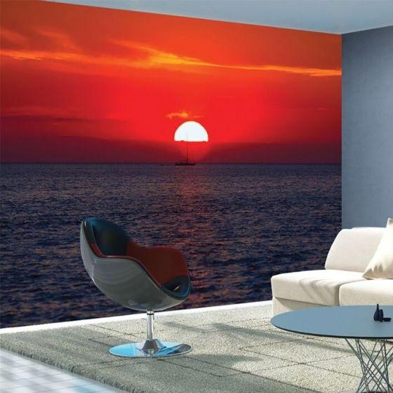 Solnedgang Fototapet - Fotostat fra NiceWall.dk