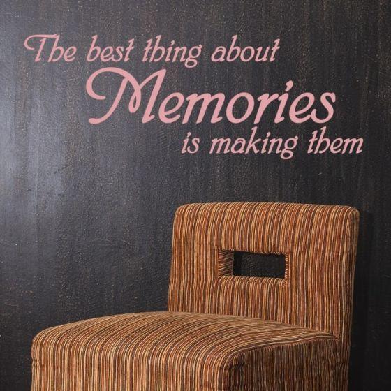 Wallsticker The best thing about Memories - NiceWall.dk