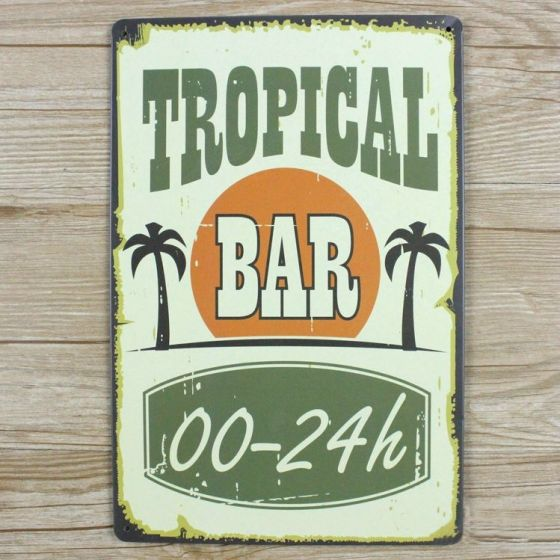 Emaljeskilt Tropical Bar - NiceWall.dk