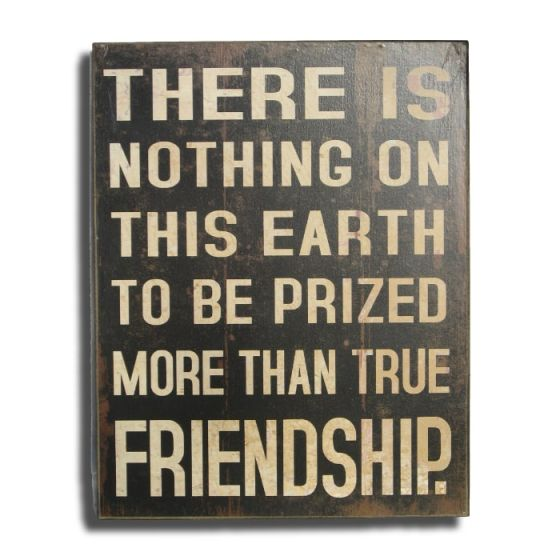 There is nothing to be prized more than true Friendship Træskilt - Vægdekoration i træ