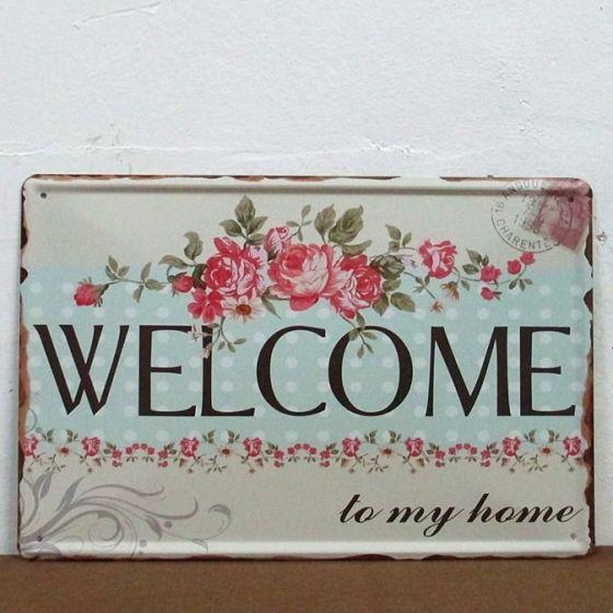 Emaljeskilt Welcome to my home - NiceWall.dk