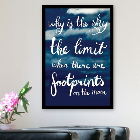 Plakat: Why is the Sky the Limit - NiceWall.dk
