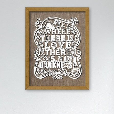 Plakat: Where there is Love - NiceWall.dk