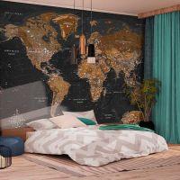World: Stylish Map fotostat - flot foto tapet til væggen