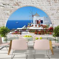 Summer in Santorini fotostat - flot foto tapet til væggen