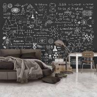 Science on Chalkboard fotostat - flot foto tapet til væggen