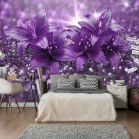 Masterpiece of Purple fotostat - flot foto tapet til væggen