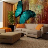 Painted butterfly fotostat - flot foto tapet til væggen