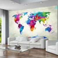 The map of happiness fotostat - flot foto tapet til væggen
