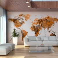 Verden i brune nuancer fotostat - flot foto tapet til væggen