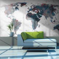 World map on the wall fotostat - flot foto tapet til væggen