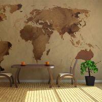 verdenskort med ringe fra tekop fotostat - flot foto tapet til væggen