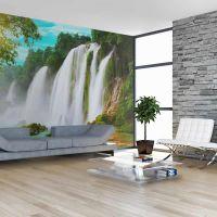 Detian - waterfall (China) fotostat - flot foto tapet til væggen
