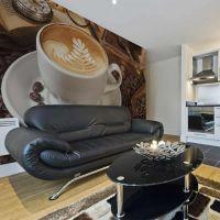 Måske kaffe? fotostat - flot foto tapet til væggen