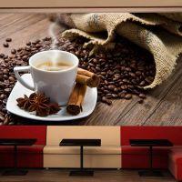 Star anise coffee fotostat - flot foto tapet til væggen