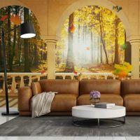 Dream about autumnal forest fotostat - flot foto tapet til væggen