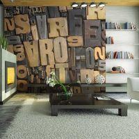 Wooden breve fotostat - flot foto tapet til væggen