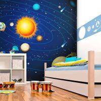 Solsystemet fotostat - flot foto tapet til væggen