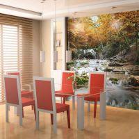 efterår  - vandfald fotostat - flot foto tapet til væggen