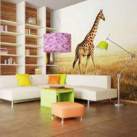 Giraf på engen fotostat - flot foto tapet til væggen