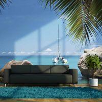 Seychelles fotostat - flot foto tapet til væggen