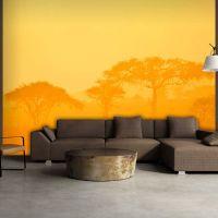 Orange savanna fotostat - flot foto tapet til væggen