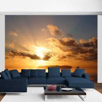 hav - solnedgang fotostat - flot foto tapet til væggen