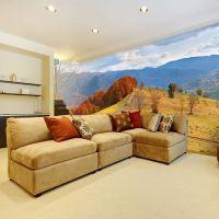 Karpaterne klædt i efterårets smukke farver fotostat - flot foto tapet til væggen