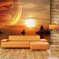 Fantasy sunset fotostat - flot foto tapet til væggen