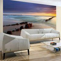 strand - solopgang fotostat - flot foto tapet til væggen