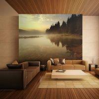 Skov og sø fotostat - flot foto tapet til væggen