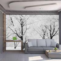 Træer - vinterlandskab fotostat - flot foto tapet til væggen