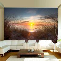 Solnedgang over Atlanterhavet fotostat - flot foto tapet til væggen