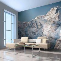 Vinter i Alperne fotostat - flot foto tapet til væggen