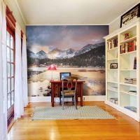 Flot bjerglandskab fotostat - flot foto tapet til væggen