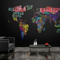 Farverige rejser fotostat - flot foto tapet til væggen