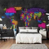 map, Italian - colors fotostat - flot foto tapet til væggen