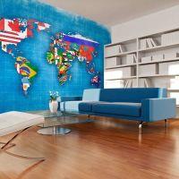 Flags of countries fotostat - flot foto tapet til væggen