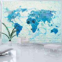 Cruising and sailing -  The World map fotostat - flot foto tapet til væggen