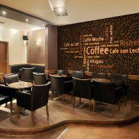 Latte, espresso, cappucino... fotostat - flot foto tapet til væggen